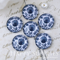 10pcs 12mm Leaves Leaf Flower Handmade Photo Glass Cabochon GC12-1072