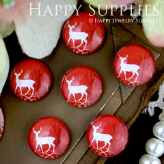 10pcs 12mm Deer Handmade Photo Glass Cabochon GC12-261