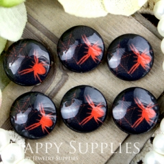 10pcs 12mm Spider Handmade Photo Glass Cabochon GC12-360