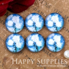10pcs 12mm Flower Handmade Photo Glass Cabochon GC12-1117