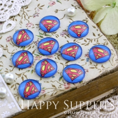 10pcs 12mm Superman Handmade Photo Glass Cabochon GC12-166