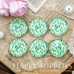 10pcs 12mm Green Grass Leaves Leaf Handmade Photo Glass Cabochon GC12-989