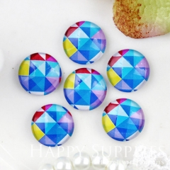 10pcs 12mm Geometric Colorful Handmade Photo Glass Cabochon GC12-793