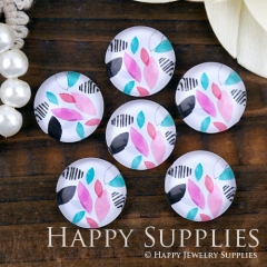 10pcs 12mm Leaf Handmade Photo Glass Cabochon GC12-1270