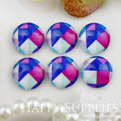 10pcs 12mm Geometric Colorful Handmade Photo Glass Cabochon GC12-795