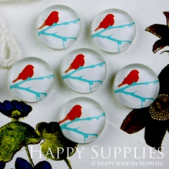 10pcs 12mm Bird Handmade Photo Glass Cabochon GC12-088