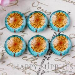 10pcs 12mm Flower Handmade Photo Glass Cabochon GC12-639