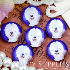 10pcs 12mm Dog Handmade Photo Glass Cabochon GC12-413