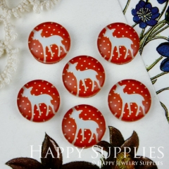 10pcs 12mm Deer Handmade Photo Glass Cabochon GC12-007
