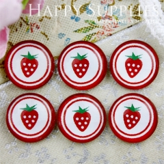 10pcs 12mm strawberry Handmade Photo Glass Cabochon GC12-728