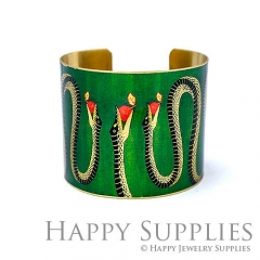 1pcs Snake Handmade Photo Brass Cuff Bracelet PBC110