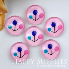 10pcs 12mm Tree Colorful Handmade Photo Glass Cabochon GC12-1162
