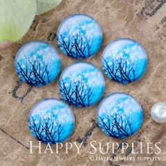 10pcs 12mm Tree Handmade Photo Glass Cabochon GC12-1119