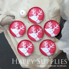 10pcs 12mm Deer Handmade Photo Glass Cabochon GC12-995