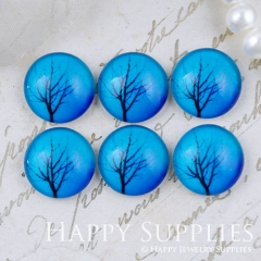 10pcs 12mm Tree Handmade Photo Glass Cabochon GC12-1120