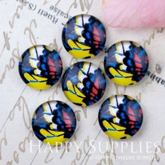 10pcs 12mm Geometric Colorful Handmade Photo Glass Cabochon GC12-1164