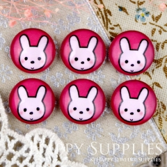 10pcs 12mm Rabbit Handmade Photo Glass Cabochon GC12-914