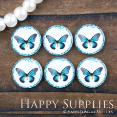 10pcs 12mm Butterfly Handmade Photo Glass Cabochon GC12-1044