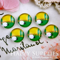 10pcs 12mm Sheep Handmade Photo Glass Cabochon GC12-286