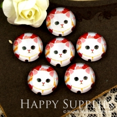 10pcs 12mm Cat Handmade Photo Glass Cabochon GC12-905