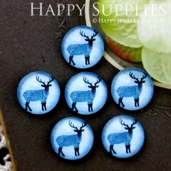 10pcs 12mm Deer Handmade Photo Glass Cabochon GC12-576