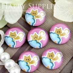 10pcs 12mm Cat Handmade Photo Glass Cabochon GC12-345