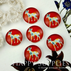 10pcs 12mm Deer Handmade Photo Glass Cabochon GC12-015