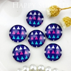 10pcs 12mm Triangle Geometric Handmade Photo Glass Cabochon GC12-826