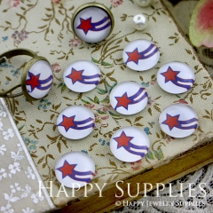 10pcs 12mm Star Handmade Photo Glass Cabochon GC12-074