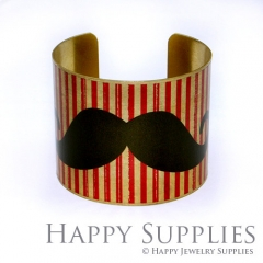 1pcs Moustache Handmade Photo Brass Cuff Bracelet PBC002