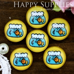 10pcs 12mm Fish Tank Handmade Photo Glass Cabochon GC12-704