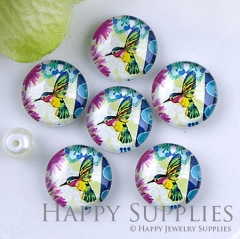 10pcs 12mm Bird and Tree Handmade Photo Glass Cabochon GC12-1228