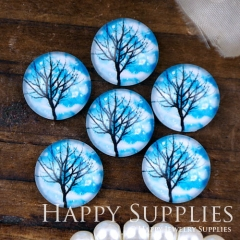 10pcs 12mm Tree Handmade Photo Glass Cabochon GC12-1118