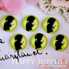 10pcs 12mm Snow White witch Handmade Photo Glass Cabochon GC12-282