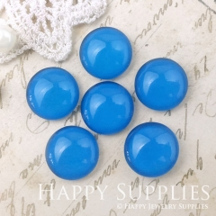 10pcs 12mm Blue Handmade Photo Glass Cabochon GC12-1059