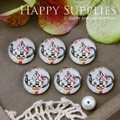 10pcs 12mm Teapot Handmade Photo Glass Cabochon GC12-521