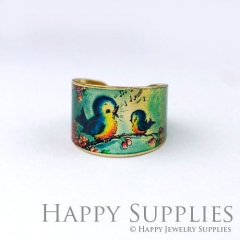 1pcs Bird Handmade Photo Brass Ring PR124