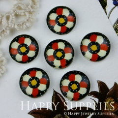 10pcs 12mm Flower Handmade Photo Glass Cabochon GC12-009