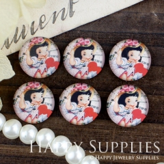 10pcs 12mm Girl Handmade Photo Glass Cabochon GC12-439