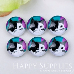 10pcs 12mm Cat Handmade Photo Glass Cabochon GC12-1152
