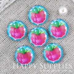 10pcs 12mm Fruit Grapes Handmade Photo Glass Cabochon GC12-1106