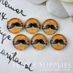10pcs 12mm Moustache Handmade Photo Glass Cabochon GC12-020