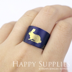 1pcs Rabbit Handmade Photo Brass Ring PR074