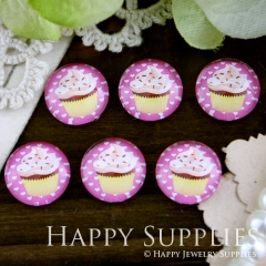 10pcs 12mm Cake Handmade Photo Glass Cabochon GC12-252