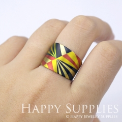 1pcs Pattern Handmade Photo Brass Ring PR055
