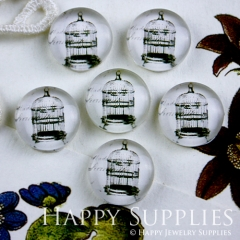 10pcs 12mm Cage Handmade Photo Glass Cabochon GC12-095