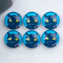 10pcs 12mm Cat Handmade Photo Glass Cabochon GC12-1148