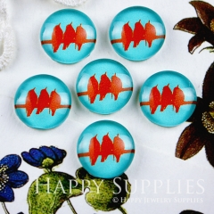 10pcs 12mm Bird Handmade Photo Glass Cabochon GC12-085