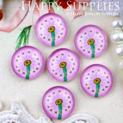 10pcs 12mm Dandelion Handmade Photo Glass Cabochon GC12-328