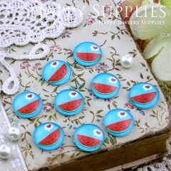 10pcs 12mm watermelon Handmade Photo Glass Cabochon GC12-167